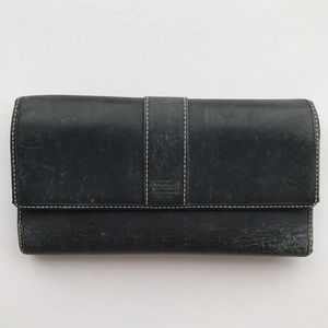 Coach Weathered Vintage Leather Black Wallet